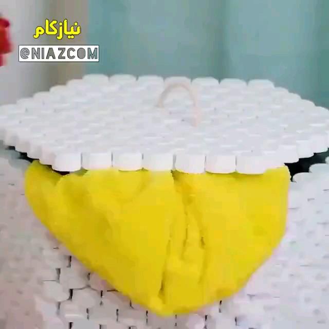 آموزش ساخت باکس لباس با درب بطری نوشابه و آب معدنی