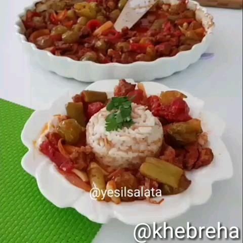 ویدیو کلیپ آشپزی جدید | طرز تهیه خوراک گوجه سبز