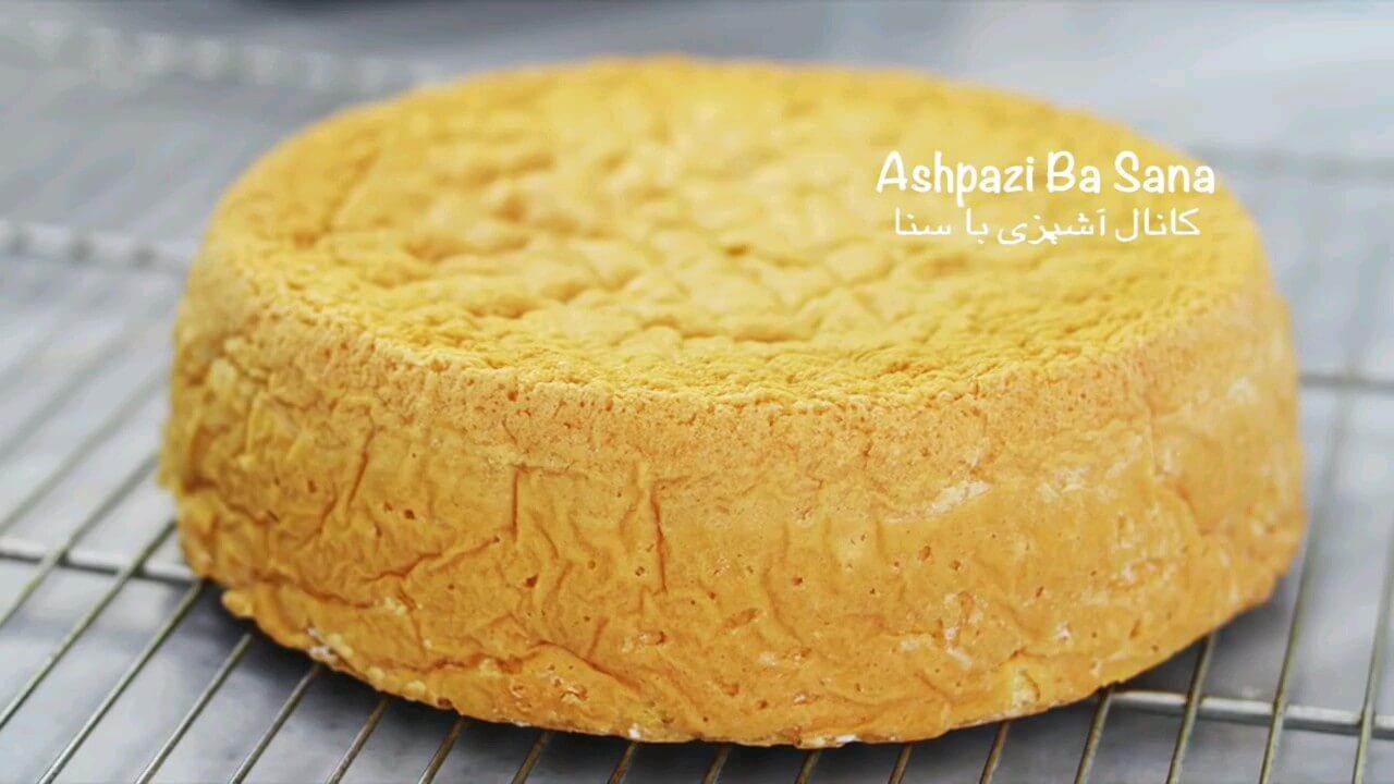 فیلم طرز تهیه کیک اسفنجی پایه برای تزئین و خامه کشی انواع کیک ها