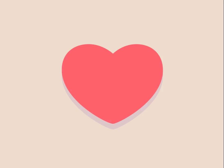 استیکر عاشقانه قلب