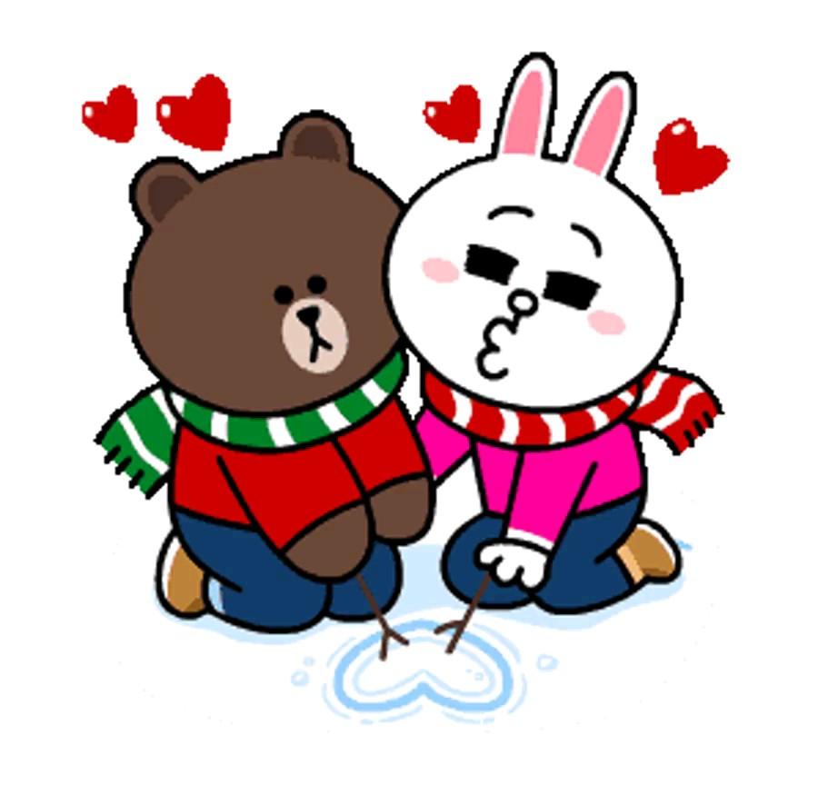 استیکر عاشقانه زمستانی واتساپ