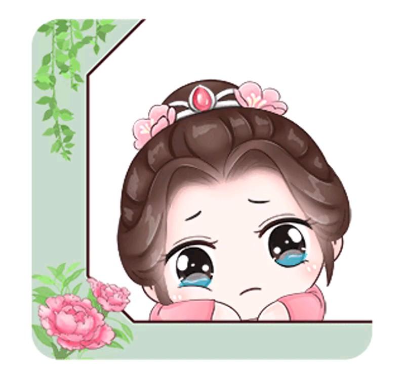 استیکر گریه دخترونه واتساپ