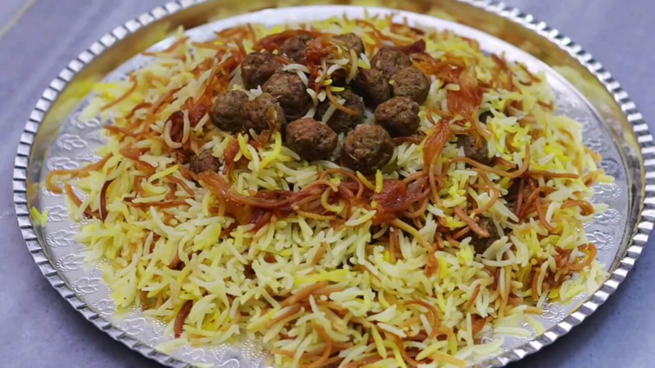 فیلم طرز تهیه رشته پلو غذای خوشمزه و اصیل ایرانی