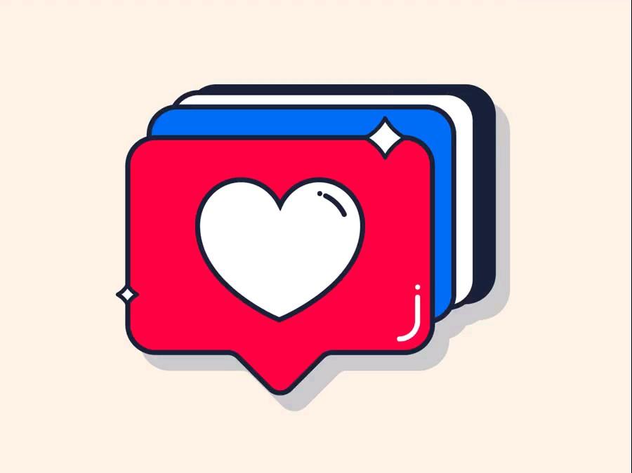 استیکر لایک های عاشقانه | آرشیو عاشقانه