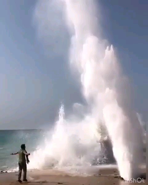 پدیدهجالب آب فشان سیستان و بلوچستان ، چابهار