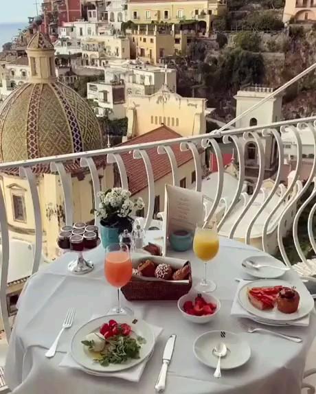 ایتالیا | صبحانه لاکچری | صبح بخیر