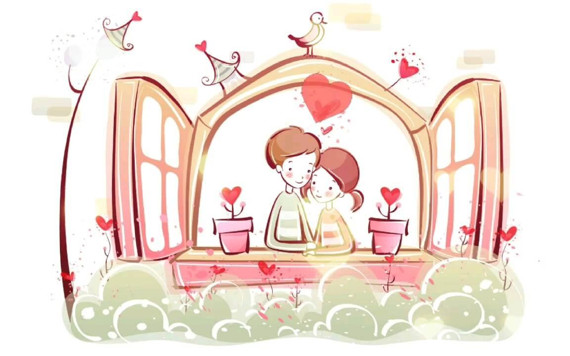 کارت پستال موزیکال عاشقانه متحرک