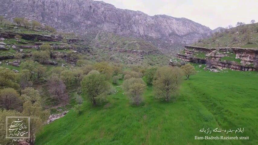 تنگه رازیانه بدره منطقه زیبایی در ایلام | گردشگری ایلام