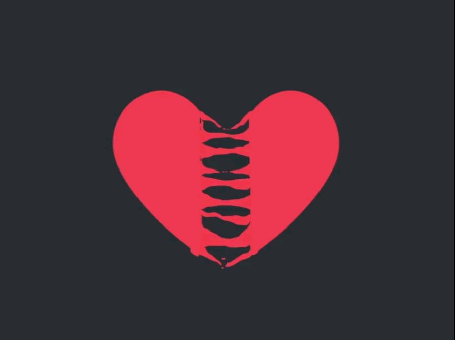 گیف قلب عاشقانه جدید