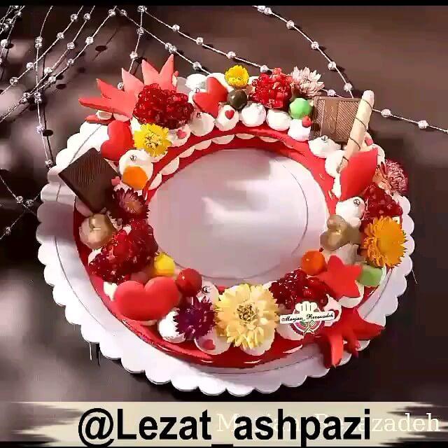 فیلم طرز تهیه بیسکو کیک انار