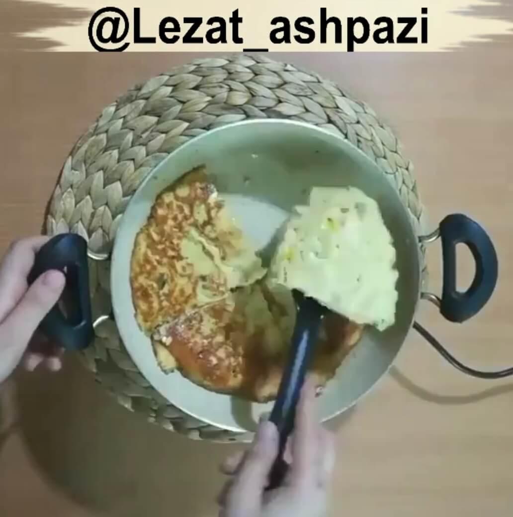 کلیپ طرز تهیه کوکوی مرغ و قارچ