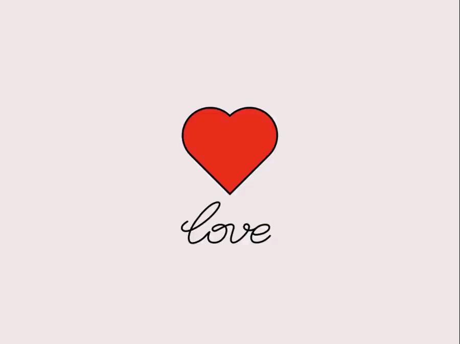 انیمیشن قلب عاشقانه