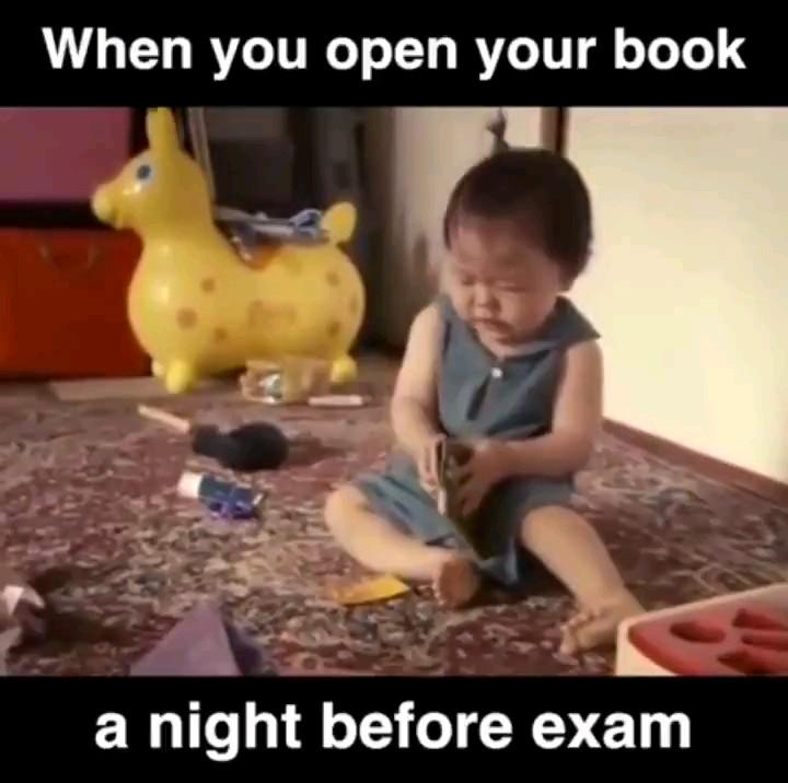 وقتی شب امتحان واسه اولین بار جزوهتو باز میکنی :))
