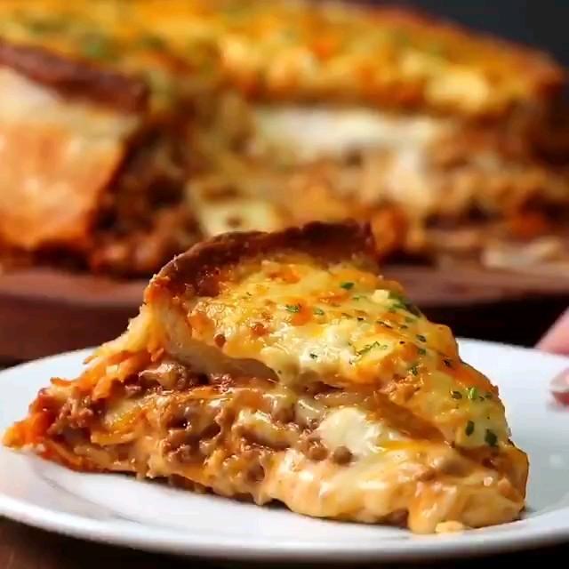 طرز تهیه پیتزا لازانیا