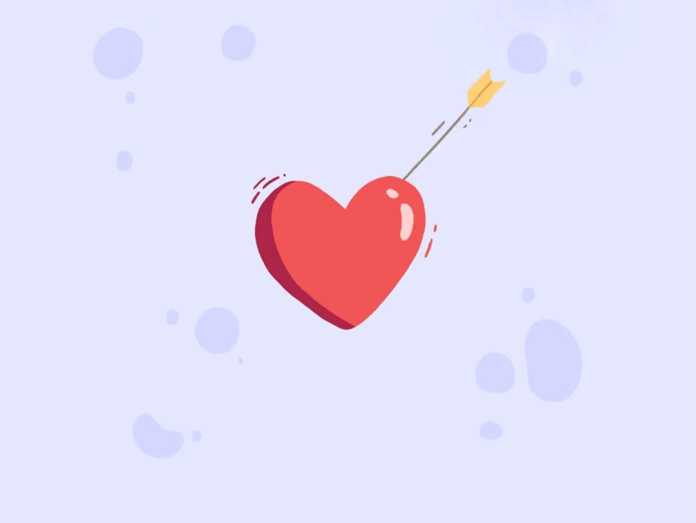 تیر و قلب عاشقانه