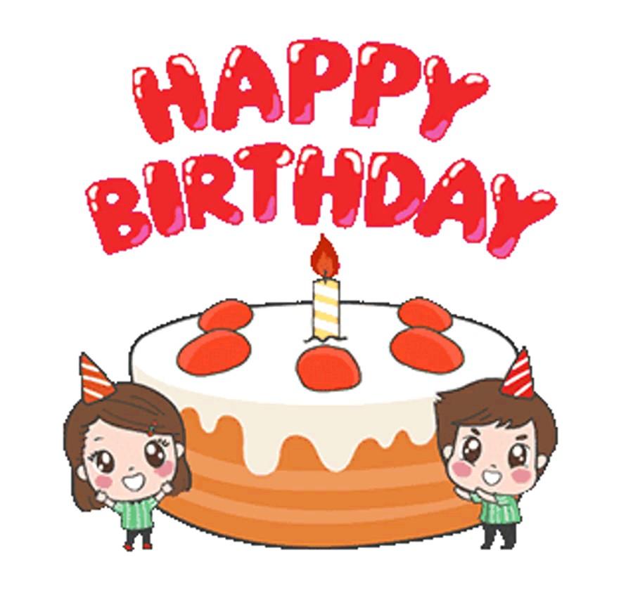 استیکر متحرک تولد مبارک واتساپ