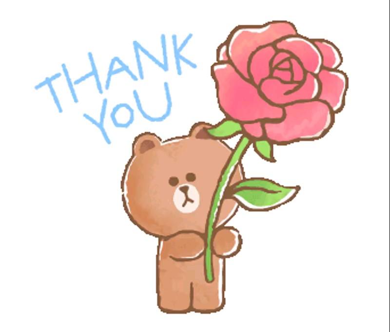 دانلود استیکر تشکر عاشقانه کارتونی