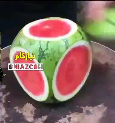 یک ترفند جالب و راحت مخصوص برش هندوانه