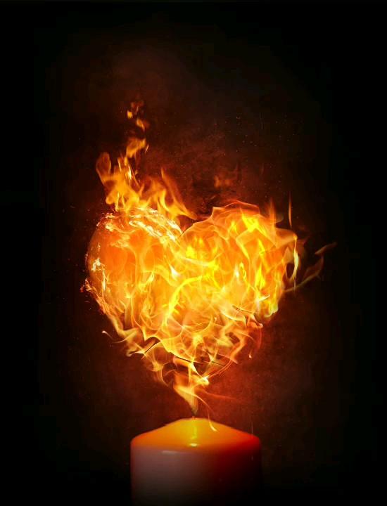 عکس متحرک قلب عاشقانه