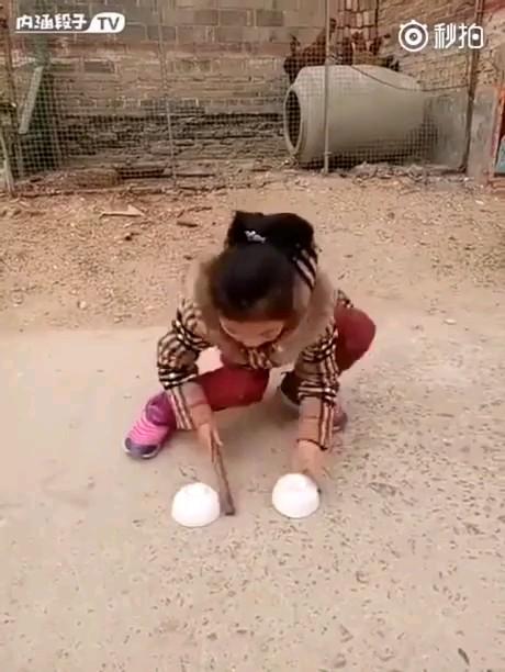 تردستی جالب دختر بچه چینی
