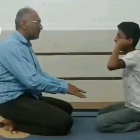 وقتی بابا میبازه و  جنبه هم نداره  :)) | gif fun