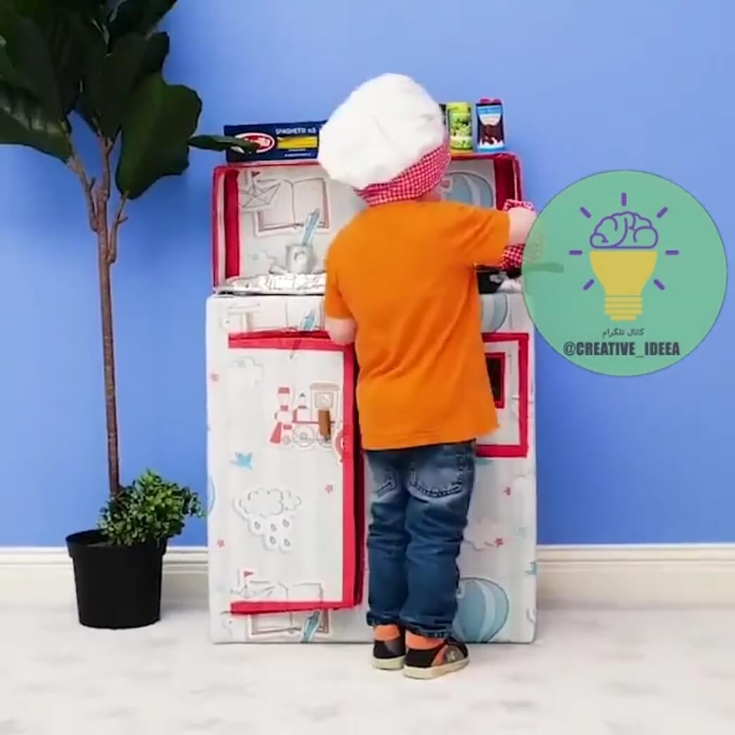 آموزش ساخت اجاق گاز و ماشین با کارتن برای بچه ها