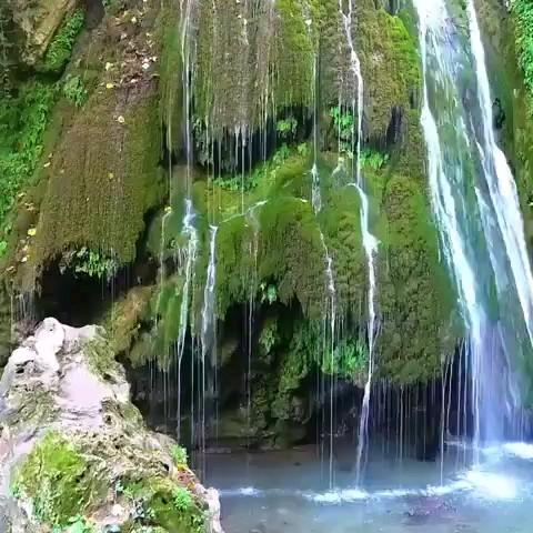 آبشار تمام خزه ی کبودوال گلستان
