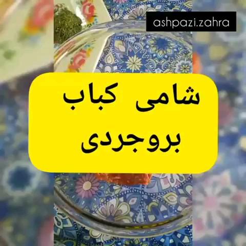 فیلم طرز تهیه شامی کباب بروجردی