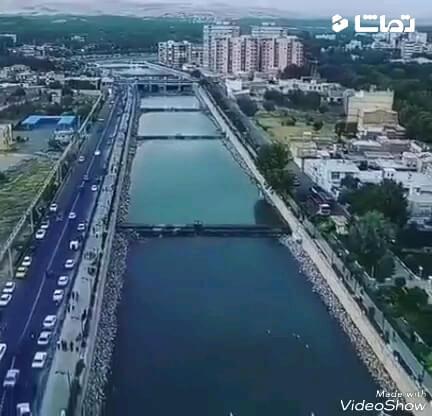 اینجا لندن یا رم نیست ، اینجا رودخانه صوفی چای مراغه آذربایجان شرقی است
