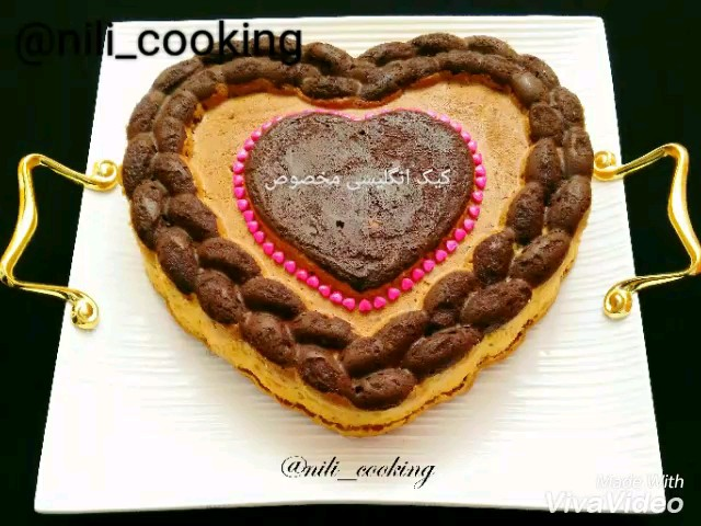 طرز تهیه کیک انگلیسی قلبی مخصوص