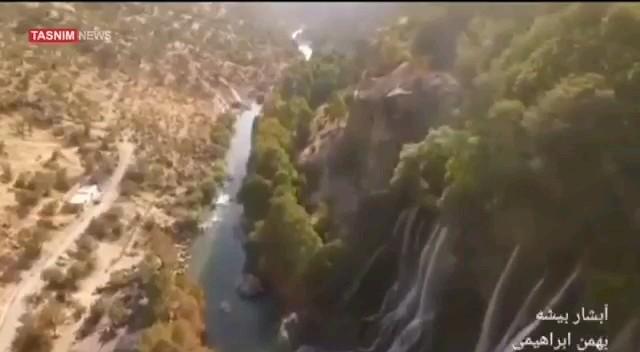 فیلم آبشار بیشه گرمه دورود لرستان