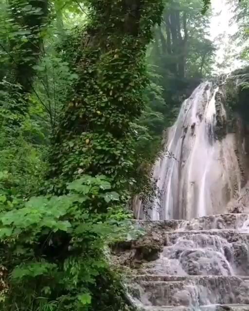 فیلم آبشار اسکلیم در سوادکوه مازندران