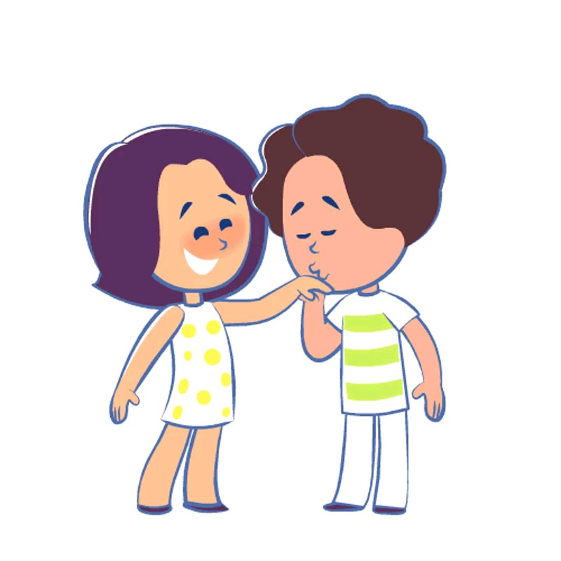استیکر بوسه عاشقانه زناشویی واتساپ