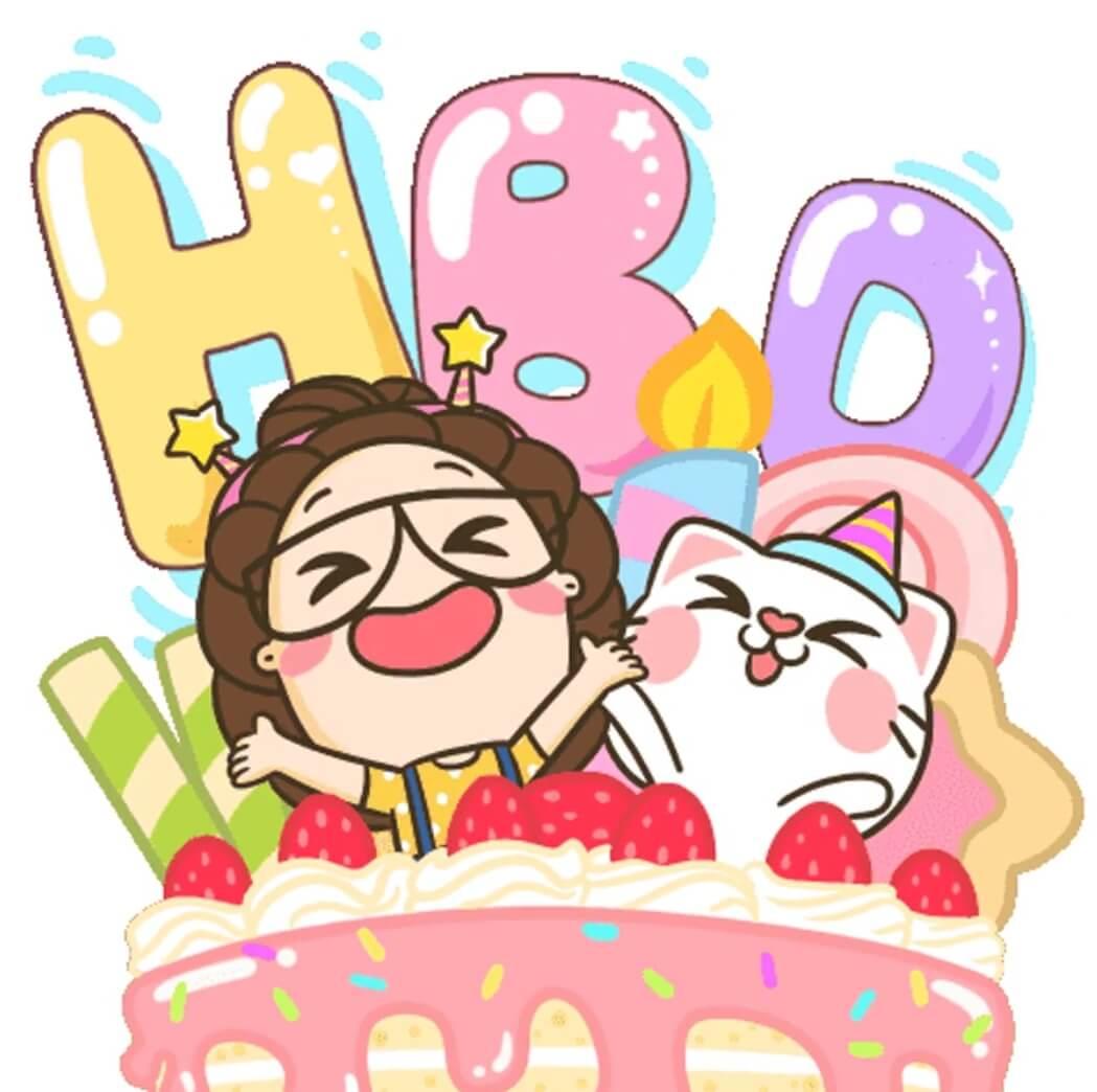 استیکر تولدت مبارک متحرک واتساپ