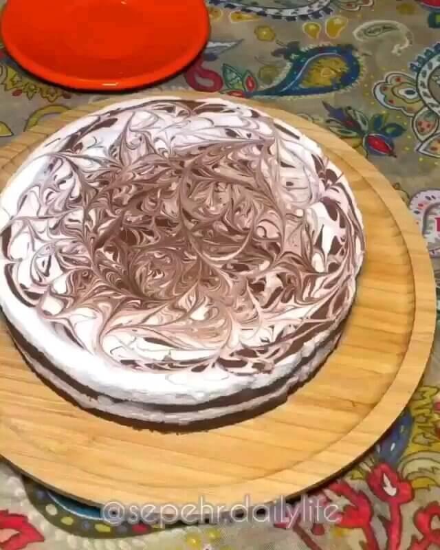 طرز تهیه چیز کیک وانیل شکلات