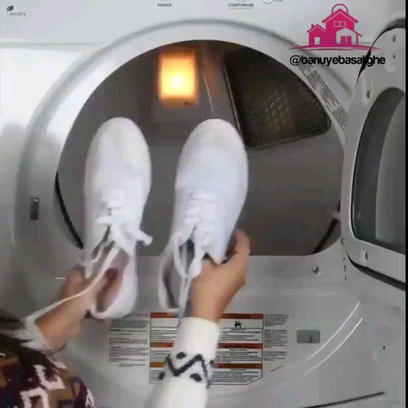 شیوه صحیح شستن کفش کتونی توی ماشین لباسشویی