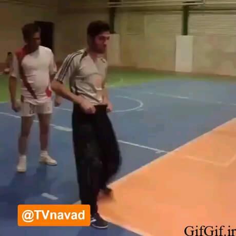 یک ترفند خنده دار برای گل زدن در فوتبال