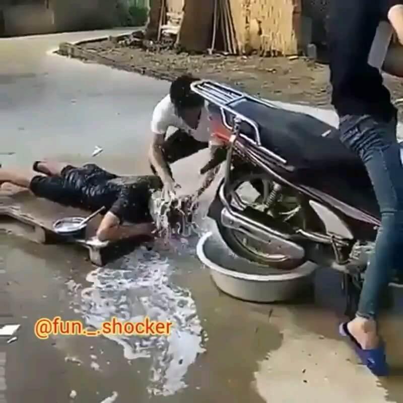 فیلم کوتاه خنده دار اینستاگرام | شستشو و سشوار جدید :)))