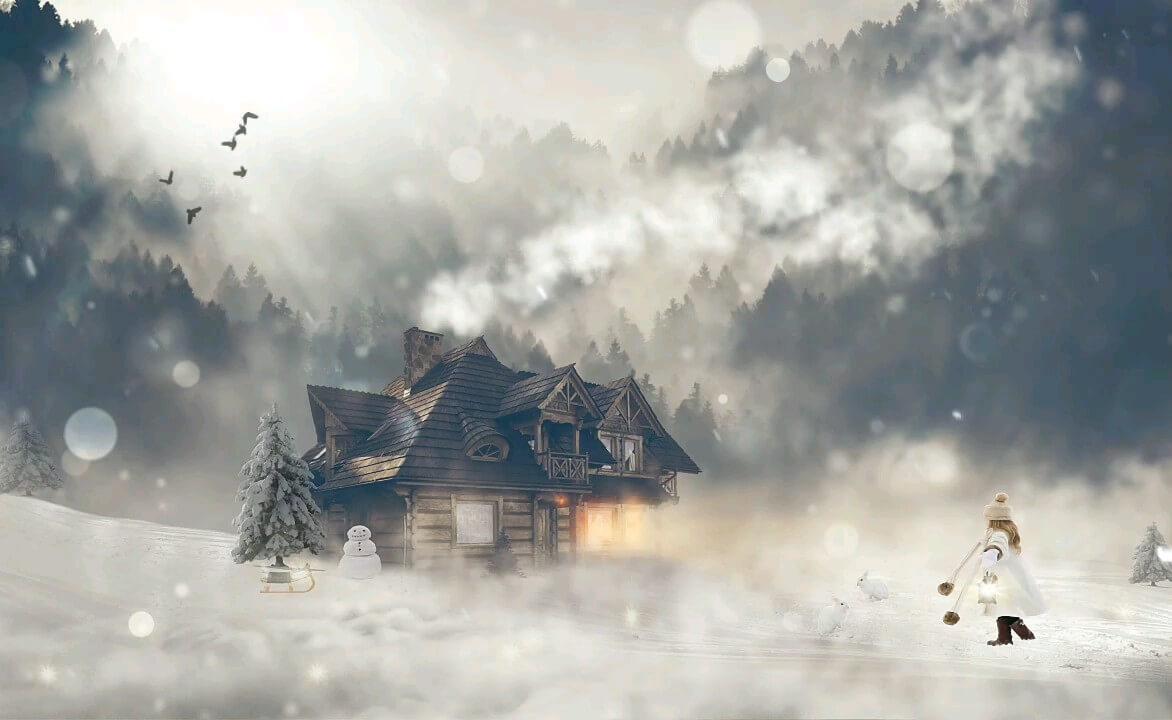 عکس متحرک برف زمستانی زیبا
