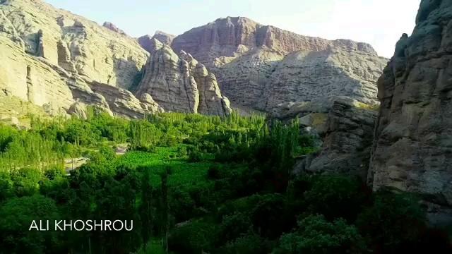 تصاویر هوایی منطقه زیبای الموت