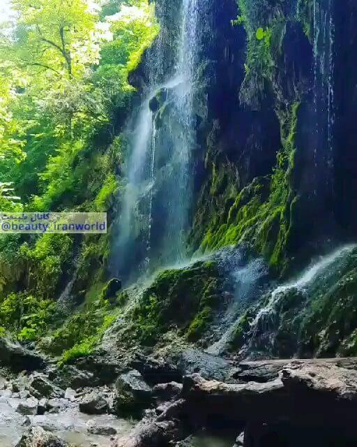 فیلم آبشار باران کوه گلستان
