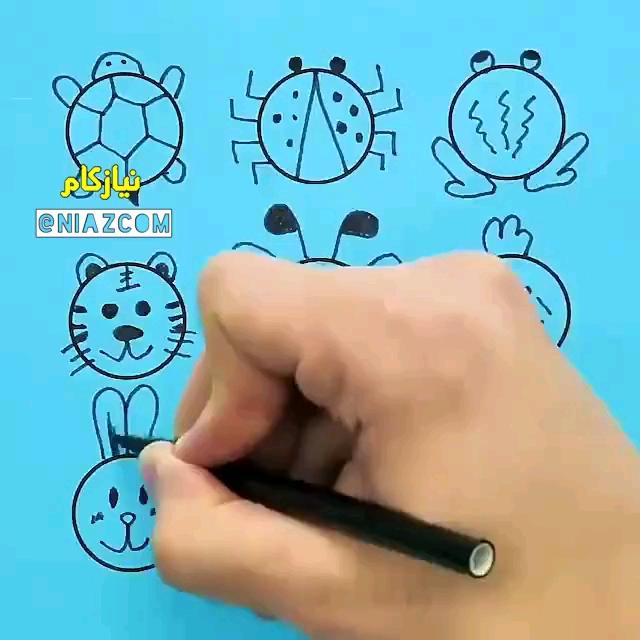 ویدیو آموزش نقاشی کودکان به کمک دایره